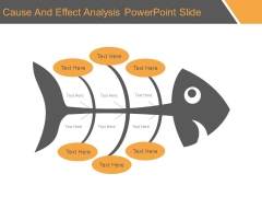 Cause And Effect Analysis Powerpoint Slide
