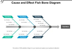 Cause And Effect Fish Bone Diagram Ppt PowerPoint Presentation Professional Slide Download PDF