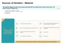 Cause And Effect For Business Problem Solution Sources Of Variation Material Summary PDF