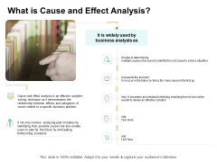 Cause And Effect For Business Problem Solution What Is Cause And Effect Analysis Ideas PDF