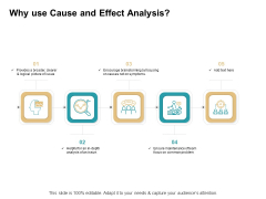 Cause And Effect For Business Problem Solution Why Use Cause And Effect Analysis Sample PDF