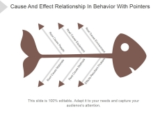 Cause And Effect Relationship In Behavior With Pointers Ppt PowerPoint Presentation Shapes