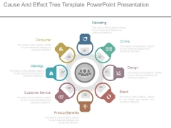 Cause And Effect Tree Template Powerpoint Presentation