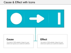 Cause And Effect With Icons Ppt Powerpoint Presentation Examples