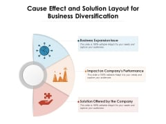 Cause Effect And Solution Layout For Business Diversification Ppt PowerPoint Presentation Pictures Show PDF