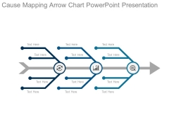 Cause Mapping Arrow Chart Powerpoint Presentation