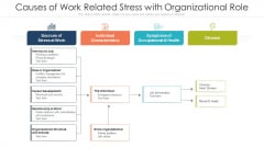 Causes Of Work Related Stress With Organizational Role Ppt Portfolio Background PDF