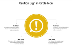 Caution Sign In Circle Icon Ppt PowerPoint Presentation File Deck PDF