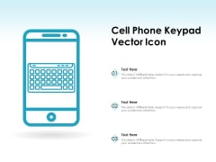 Cell Phone Keypad Vector Icon Ppt PowerPoint Presentation File Inspiration PDF