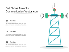 Cell Phone Tower For Communication Vector Icon Ppt PowerPoint Presentation File Show PDF