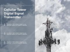Cellular Tower Digital Signal Transmitter Ppt PowerPoint Presentation Model Graphics