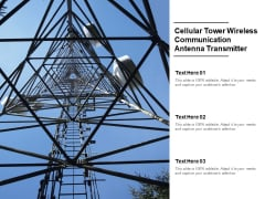 Cellular Tower Wireless Communication Antenna Transmitter Ppt PowerPoint Presentation Infographic Template Grid