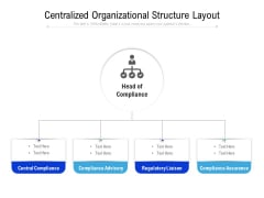 Centralized Organizational Structure Layout Ppt Icon Picture PDF