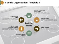 Centric Organization Building Blocks Ppt PowerPoint Presentation Ideas Guidelines