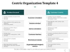 Centric Organization Customer Orientation Ppt PowerPoint Presentation Summary Clipart Images