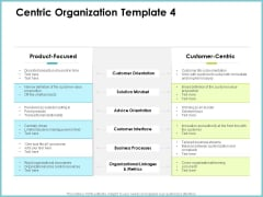 Centric Organization Template Orientation Client Centric Strategies Graphics PDF