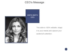Ceos Message Template 2 Ppt PowerPoint Presentation Ideas Smartart