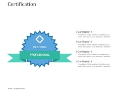 Certification Ppt PowerPoint Presentation Backgrounds