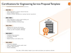 Certifications For Engineering Service Proposal Template Guidelines PDF
