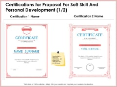Certifications For Proposal For Soft Skill And Personal Development Graphics PDF