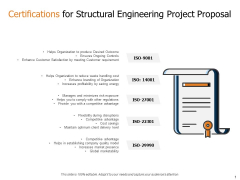 Certifications For Structural Engineering Project Proposal Ppt Tips PDF