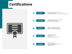 Certifications Management Ppt PowerPoint Presentation Infographics Diagrams