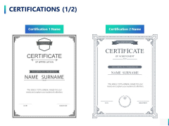 Certifications Management Ppt PowerPoint Presentation Professional Format Ideas