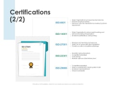 Certifications Portfolio Ppt PowerPoint Presentation Professional