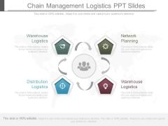 Chain Management Logistics Ppt Slides