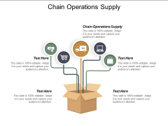 Chain Operations Supply Ppt PowerPoint Presentation Model Skills Cpb