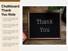 Chalkboard Thank You Note Ppt Powerpoint Presentation Styles Templates