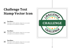 Challenge Text Stamp Vector Icon Ppt PowerPoint Presentation Gallery Mockup PDF