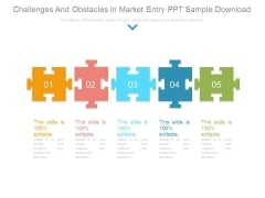 Challenges And Obstacles In Market Entry Ppt Sample Download
