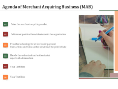 Challenges And Opportunities For Merchant Acquirers Agenda Of Merchant Acquiring Business MAB Infographics PDF