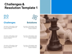 Challenges And Resolution Template Ppt PowerPoint Presentation Ideas Inspiration