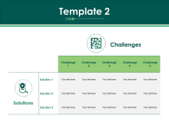 Challenges And Solutions Template 2 Ppt PowerPoint Presentation Ideas Slide