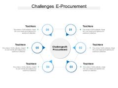 Challenges E Procurement Ppt PowerPoint Presentation Pictures Slides Cpb
