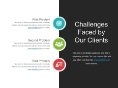 Challenges Faced By Our Clients Template 4 Ppt PowerPoint Presentation Styles Graphics Template