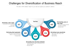 Challenges For Diversification Of Business Reach Ppt PowerPoint Presentation File Inspiration PDF