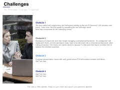 Challenges For Process Change Proposal Ppt Powerpoint Presentation File Visuals