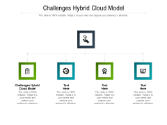Challenges Hybrid Cloud Model Ppt PowerPoint Presentation Icon Picture Cpb Pdf