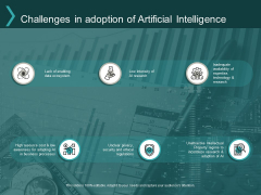 Challenges In Adoption Of Artificial Intelligence Ppt PowerPoint Presentation Infographic Template Graphic Tips