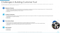 Challenges In Building Customer Trust Template PDF
