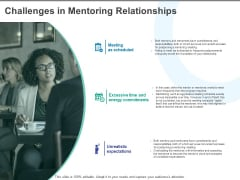 Challenges In Mentoring Relationships Ppt PowerPoint Presentation Outline Examples