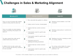 Challenges In Sales And Marketing Alignment Sales Ppt PowerPoint Presentation Inspiration Slides