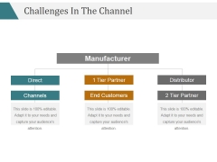 Challenges In The Channel Ppt PowerPoint Presentation Background Designs