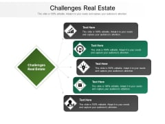 Challenges Real Estate Ppt PowerPoint Presentation Model Tips Cpb Pdf