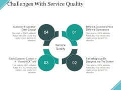 Challenges With Service Quality Ppt PowerPoint Presentation Icon Example File