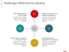 Challenges With Service Quality Ppt PowerPoint Presentation Slides Sample