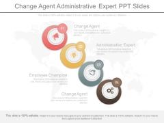 Change Agent Administrative Expert Ppt Slides